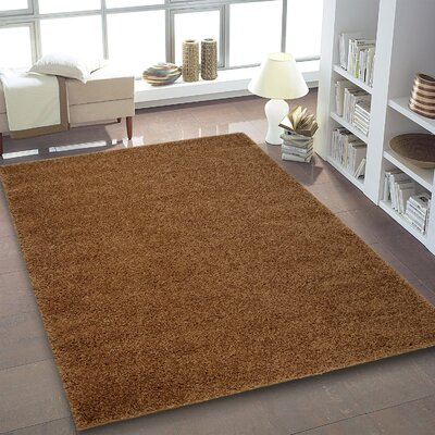 Truxton Light Brown Area Rug Rug Size: 52 x 75