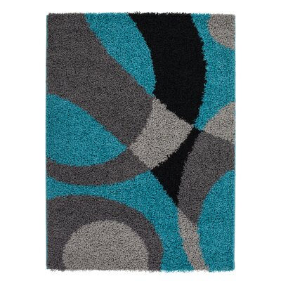 Staten Turquoise/Gray Area Rug Rug Size: Rectangle 39 x 55