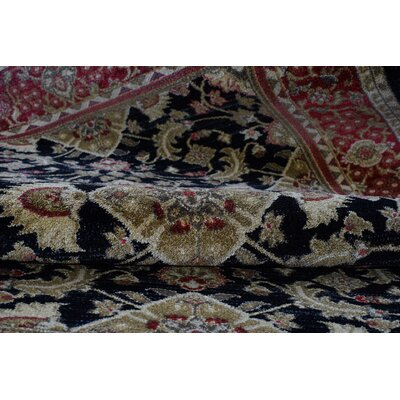 Austell Red/Black Area Rug Rug Size: 52 x 75