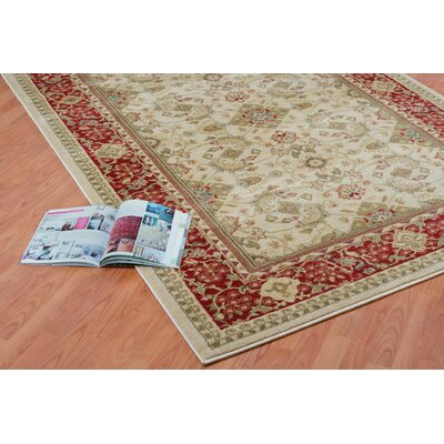 Austell Rust Cream/Red Area Rug Rug Size: 65 x 95