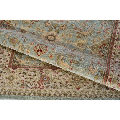 Austell Green/Cream Area Rug Rug Size: Runner 27 x 411