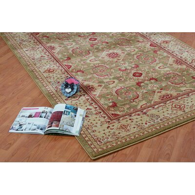 Austell Mustard Cream/Red Area Rug Rug Size: 52 x 75