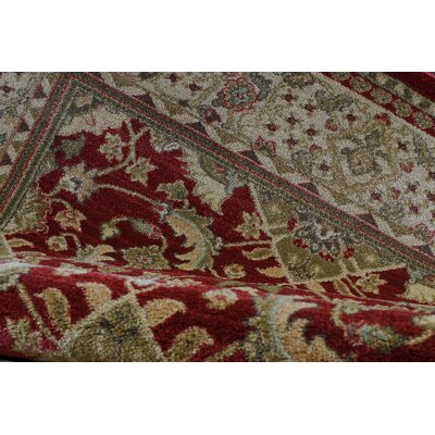 Austell Red/Cream Area Rug Rug Size: 39 x 55