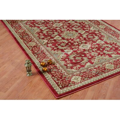 Austell Cherry Red Area Rug Rug Size: 52 x 75