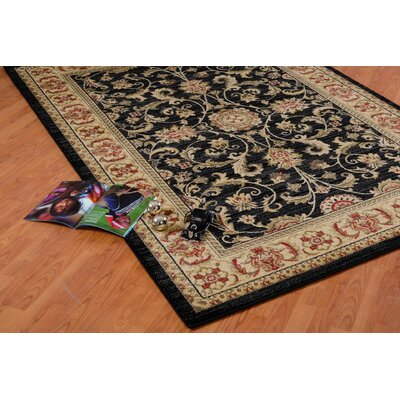 Austell Black/Cream Area Rug Rug Size: 39 x 55