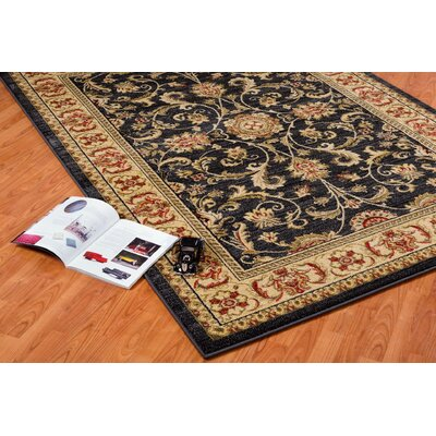 Austell Dark Gray/Cream Area Rug Rug Size: 52 x 75