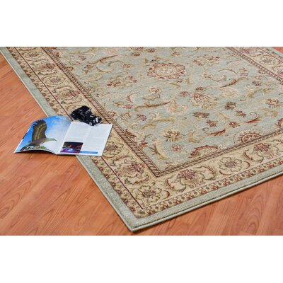 Austell Green/Red Area Rug Rug Size: 52 x 75