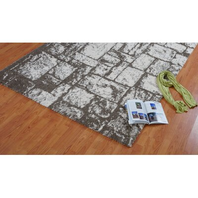 Nehemiah Patch Beige Area Rug Rug Size: 52 x 75