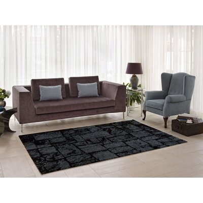 Nehemiah Patch Gray Indoor Area Rug Rug Size: 52 x 75