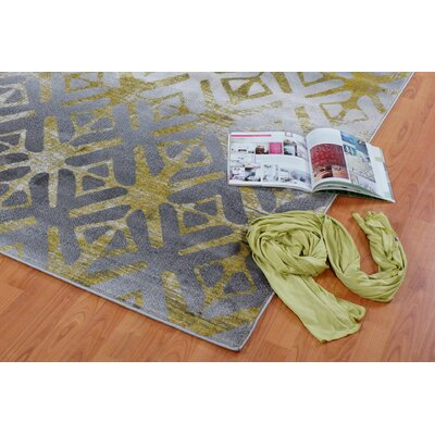 Fenster Gray Area Rug Rug Size: Runner 27 x 411