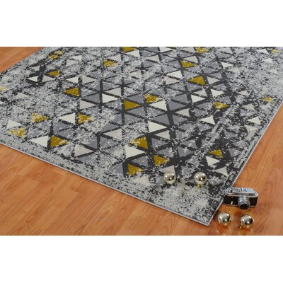 Finley Gray Area Rug Rug Size: Rectangle 27 x 411