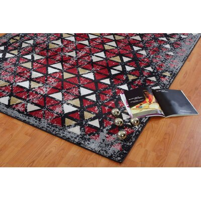 Finley Currant Red Area Rug Rug Size: 39 x 55