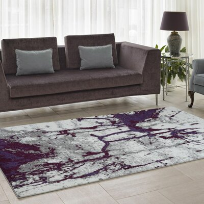 Anise Violet/Cream Area Rug Rug Size: Runner 27 x 91