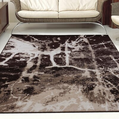 Anise Dark Brown/Cream Area Rug Rug Size: 39 x 55