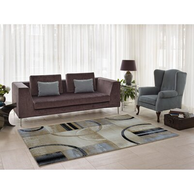 Collier Beige/Gray Area Rug Rug Size: Runner 27 x 91