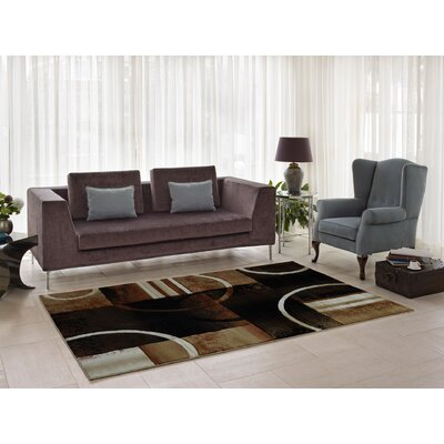 Collier Brown/Black Area Rug Rug Size: 52 x 75
