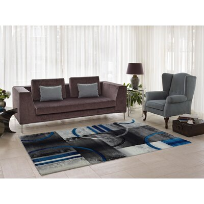 Collier Gray/Blue Area Rug Rug Size: Runner 27 x 91