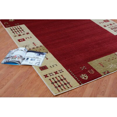 Celie Red Area Rug Rug Size: 39 x 55