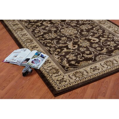 Austell Brown/Cream Area Rug Rug Size: 39 x 55