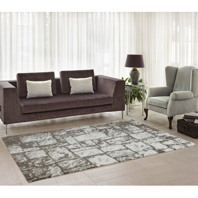 Nehemiah Patch Beige Area Rug Rug Size: 39 x 55