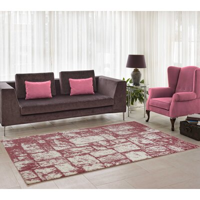 Nehemiah Patch Rose/Cream Indoor Area Rug Rug Size: 52 x 75