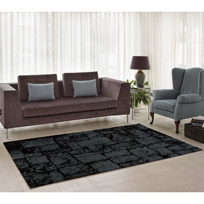 Nehemiah Patch Gray Indoor Area Rug Rug Size: 65 x 95