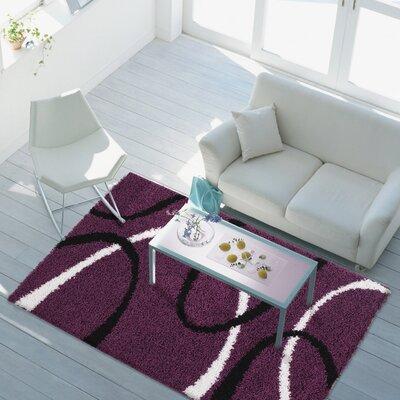 Ambler Shaggy Lilac Area Rug Rug Size: 39 x 55