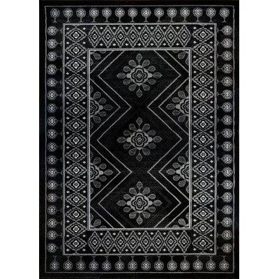 Desarae Black Area Rug Rug Size: 63 x 93