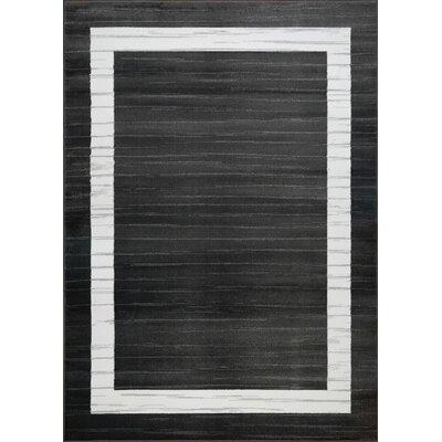 Spirgel Border Gray Area Rug Rug Size: 311 x 53