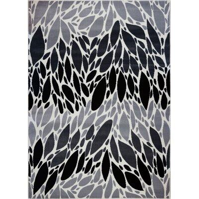 Moises Gray/Black Area Rug Rug Size: 710 x 105