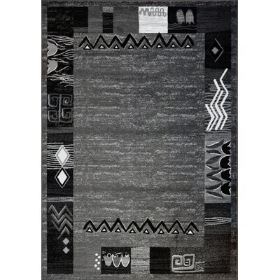 Tinsley Dark Gray Area Rug Rug Size: 53 x 75