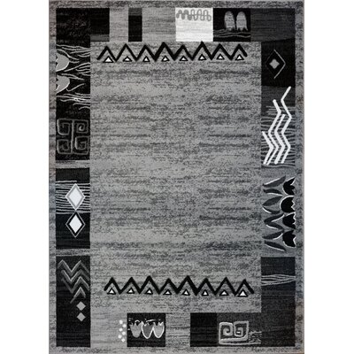 Tinsley Light Gray Area Rug Rug Size: 53 x 75