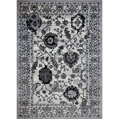 Chiltern Gray/Cream Area Rug Rug Size: 53 x 75