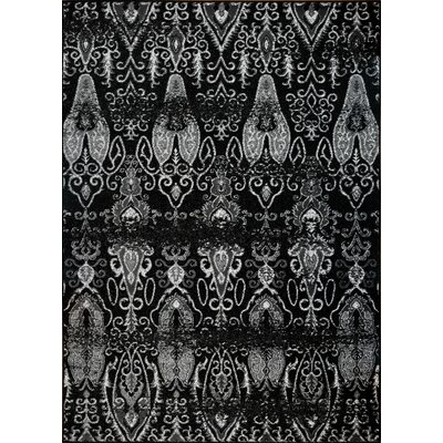 Chevaliers Black Area Rug Rug Size: 63 x 93
