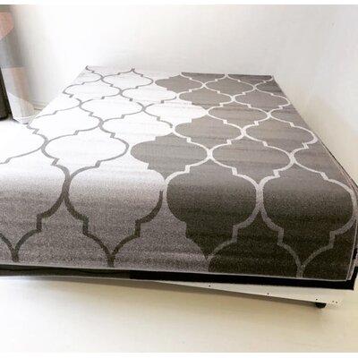 Demarest Vintage Trellis Gray Area Rug Rug Size: 65 x 95