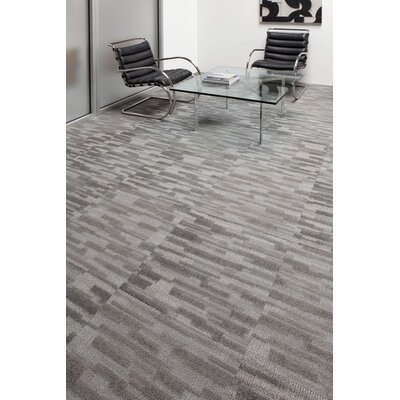 24 x 24 Carpet Tile in Gray (Set of 4)