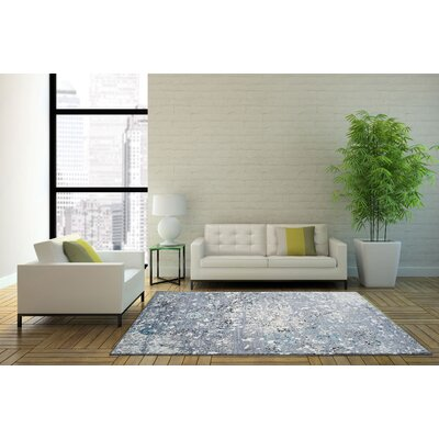 Guilaine Machine Woven Gray Area Rug Rug Size: Rectangle 53 x 75