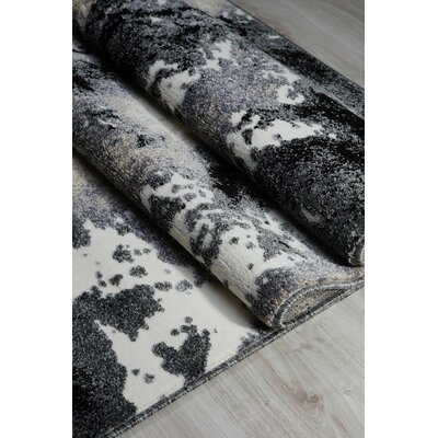 Donnelle Gray Area Rug Rug Size: Rectangle 4 x 53