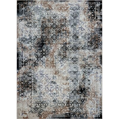 Chryses Machine Woven Gray Area Rug Rug Size: Rectangle 63 x 92
