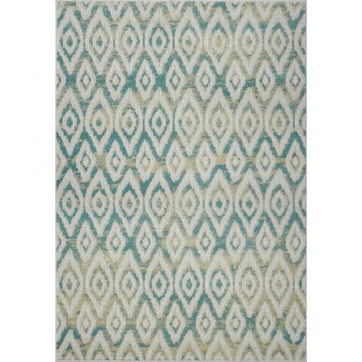 Azure White/Blue Area Rug Rug Size: Runner 27 x 10