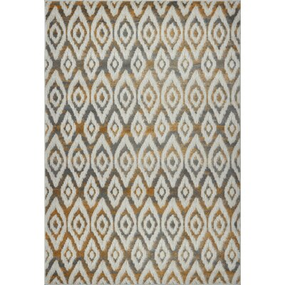Azure White/Brown Area Rug Rug Size: Runner 27 x 10