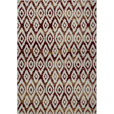 Azure White/Brown Area Rug Rug Size: 27 x 411
