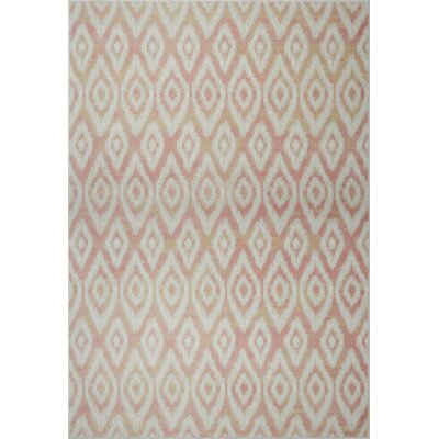 Azure Pink/White Area Rug Rug Size: 52 x 75