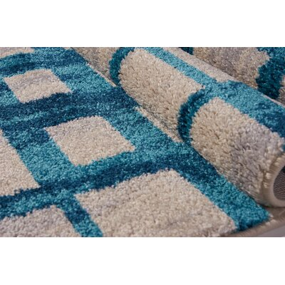 Pinheiro Gray/Blue Area Rug Rug Size: Rectangle 27 x 910