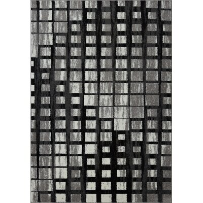 Pinheiro Gray/Black Area Rug Rug Size: Rectangle 52 x 75
