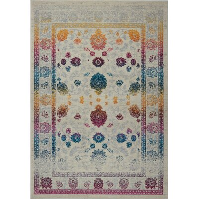 Shapiro Gray Area Rug Rug Size: Rectangle 52 x 75