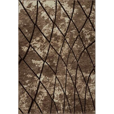 Marx Brown Area Rug Rug Size: Rectangle 52 x 75