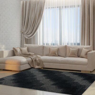 Rambert Gray Area Rug Rug Size: 27 x 411