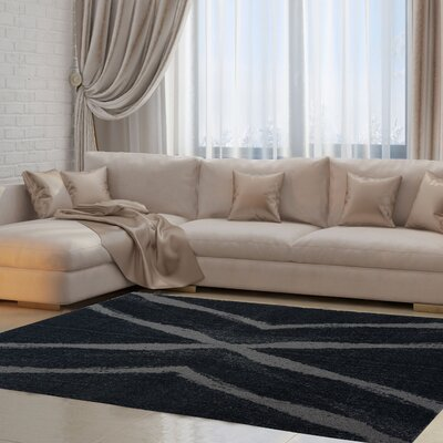 Ramer Gray Area Rug Rug Size: Rectangle 27 x 411