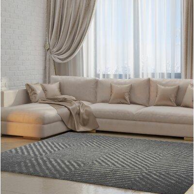Ramirez Gray Area Rug Rug Size: 39 x 55